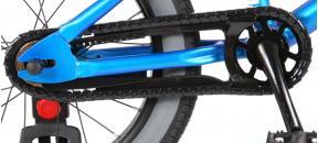 Volare Cool Rider Kinderfiets - Jongens - 16 inch - blauw - twee handremmen - 95% afgemonteerd