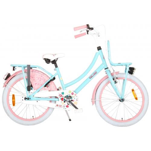 Volare Ibiza Kinderfiets - Meisjes - 20 inch - Blauw/Roze - 95% afgemonteerd