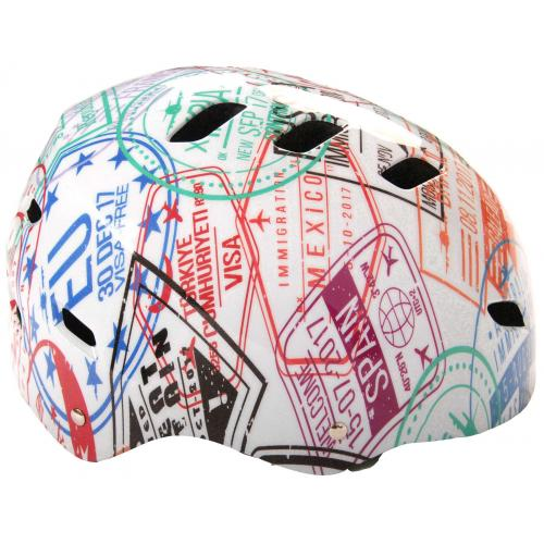 Volare Fiets/Skatehelm - Travel the World - 55-57 cm