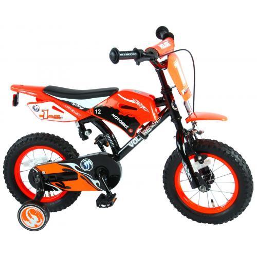Volare Motorbike Kinderfiets - Jongens - 12 inch - Oranje - 95% afgemonteerd