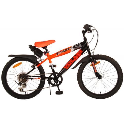 Volare Sportivo Kinderfiets - Jongens - 20 inch - Neon Oranje Zwart - 6 versnellingen