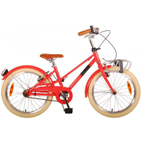 Volare Melody Kinderfiets - Meisjes - 20 inch - Pastel Rood - Twee Handremmen - Prime Collection