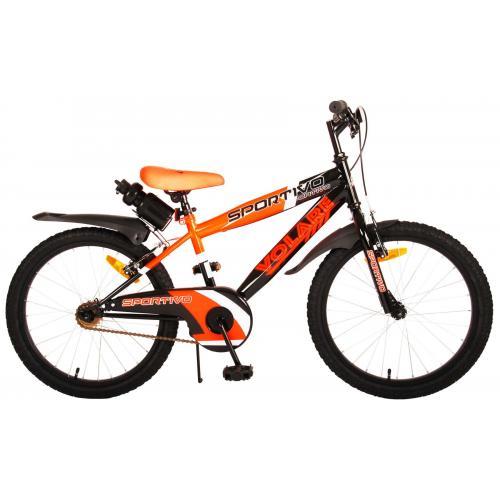 Volare Sportivo Kinderfiets - Jongens - 20 inch - Neon Oranje Zwart - Twee Handremmen