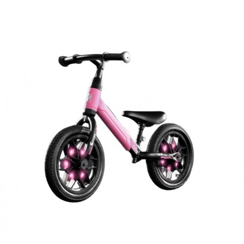 QPlay Spark Loopfiets - Jongens en Meisjes - 12 inch - Roze - Met Led Verlichting