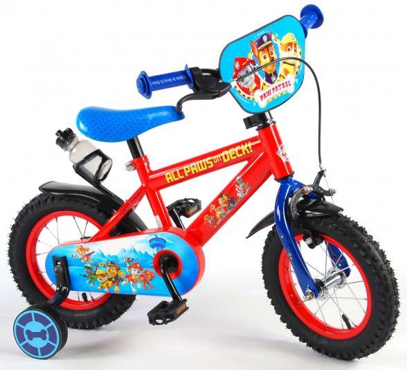 Paw Patrol Kinderfiets - Jongens - 12 inch - Rood/Blauw