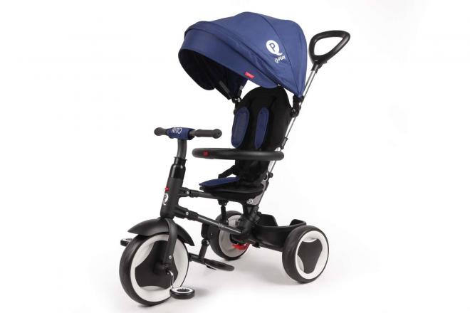 QPlay Driewieler Rito Deluxe Blauw 3 in 1