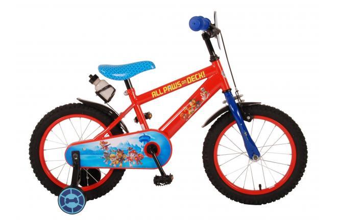 Paw Patrol Kinderfiets - Jongens - 16 inch - Rood Blauw