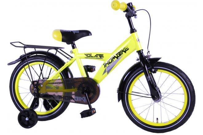 Volare Thombike City 16 inch jongensfiets Neon Geel 95% afgemonteerd