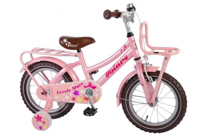 Volare Lovely Stars 14 inch meisjesfiets Roze 95% afgemonteerd
