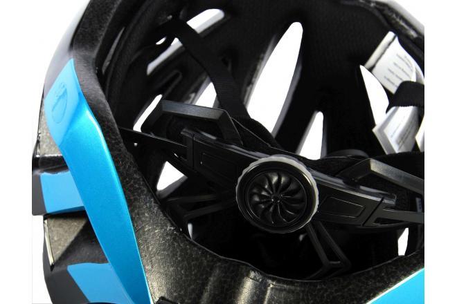 Salutoni Heren Fietshelm Zwart Blauw 58-61 cm