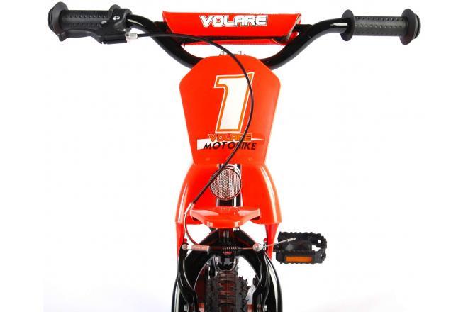 Volare Motorbike Kinderfiets - Jongens - 16 inch - Oranje - 95% afgemonteerd