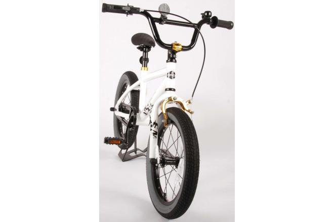 Volare Cool Rider Kinderfiets - Jongens - 16 inch - Wit - 95% afgemonteerd