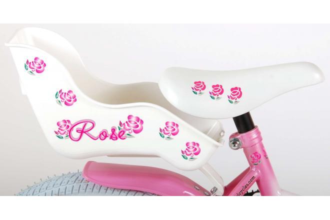 Volare Rose Kinderfiets - Meisjes - 16 inch - Roze Wit - 95% afgemonteerd