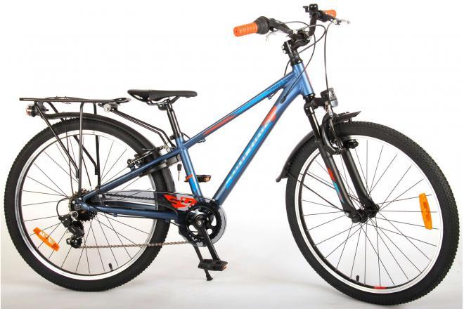Volare Cross Kinderfiets - Jongens - 24 inch - Blauw Groen - 6 versnellingen - Prime Collection