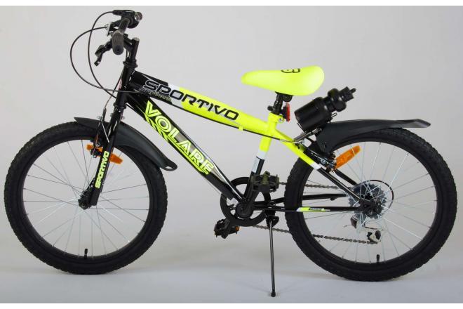 Volare Sportivo Kinderfiets - Jongens - 20 inch - Neon Geel Zwart - 6 versnellingen