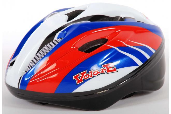 Volare Fietshelm - Skatehelm Deluxe Rood Blauw Wit 51-55 cm